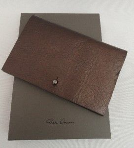 BN Rick Owens Brown Leather Wallet /Bag /Card Holder   BOXED   GREAT