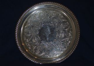 William Rogers Sterling Silver Plated Platter