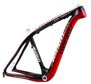 29er Carbon Mountain Bike Frame Size 17 Red by Agogo