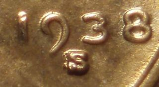 1938 S Over S Over S REPUNCHED MINT MARK 3 TIMES! Lincoln ERROR In