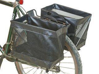 Omaha Bike Grocery Basket Pannier Pair Bicycle Cycling Rear Rack Bag
