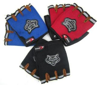 fashion bicycle bike half finger cycling gloves pad black l