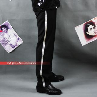 MJB2C Michael Jackson Costume Billie Jean Pants  silver stripe