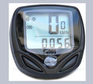 New Wireless LCD Bike Bicycle Computer Odometer Speedometer Waterproof