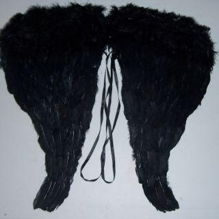 Black Angel Feathers Wings 24 Halloween Dark Fallen Golthic Costume