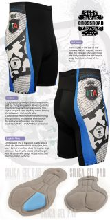 Mens Cycling Bike Tights Shorts Gel Padded Bicycle Cyclist Cycle Gear