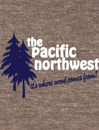 Pacific Northwest Funny American Apparel TR456 T Shirt
