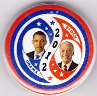 OBAMA BIDEN YING YANG PATRIOTIC SWIRL POLITICAL BUTTON CAMPAIGN PIN