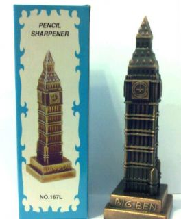 Big Ben Clock Tower in London Die Cast Metal Pencil Sharpener