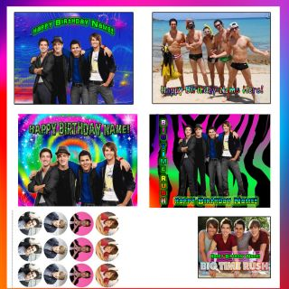 Big Time Rush Toppers Edible Image Frosting Sheet Party Topper for