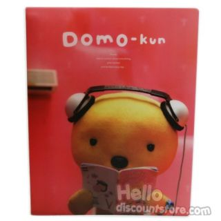 New Domo Kun 20 Pocket Binder School Supply Red