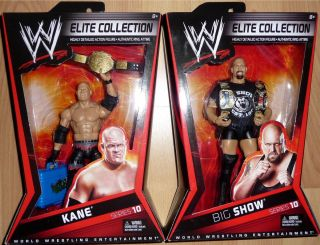 BIG SHOW KANE WWE Mattel Elite Series 10 Lot of 2 Figure World Tag