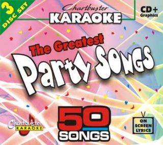 Chartbusters 3 Disc Karaoke CDG Pack 50 Songs CB5010