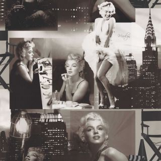 Black White 12101209 Marilyn Monroe Wallpaper
