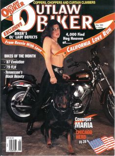 outlaw biker magazine may 1989 this magazine has been read and used
