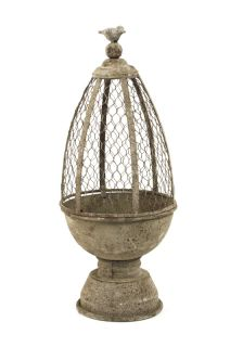 Stunning Rustic Metal Table Bird Cage Decor 8Diam x 20Tall