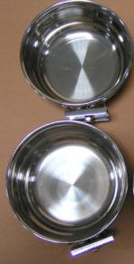 Parrot Bird Cage Stainless Steel Feeder Water Cups Bowls #8067 X