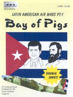 Blackbird Decals 1 48 Bay of Pigs Cuban CIA Air Force