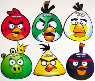ANGRY BIRDS PARTY FACE MASK / PARTY DECOR   PARTY SUPPLIES   PACK OF