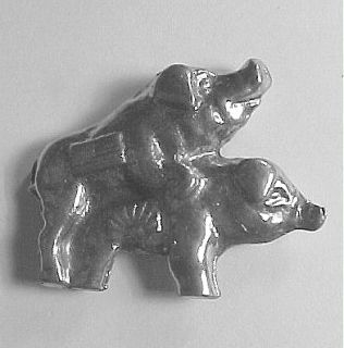 Bacon Hog Pigs Sturgis Biker Rally Motorcycle Pewter Pin 36