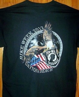 2012 Daytona Beach Bike Week T Shirt Sz SM 5XL 4 Colors Available pow