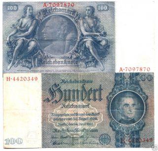 Huge RARE Ornate Nazi 100M Bill w Big Pink Swastika XF