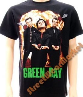 Billie Joe Green Day Alternative Rock Men T shirt Sz XL Black