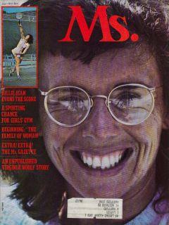 MS Magazine Billie Jean King Virginia Woolf 7 2973