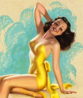Billy DeVorss Large Original Bathing Beauty RARE Pin Up Is Worth