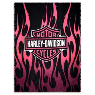 Harley Davidson Fleece Blanket Throw   50X60   New in Package