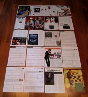 ULTIMATE BILLY GIBBONS RARE CLIPPINGS COLLECTION WOW ZZ Top