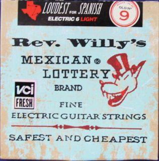 Billy Gibbons Rev Willys Light GA Elec GTR Strings