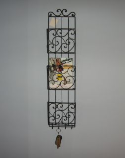 Tuscan Hanging Wall Mail Holder Organizer w Key Hooks