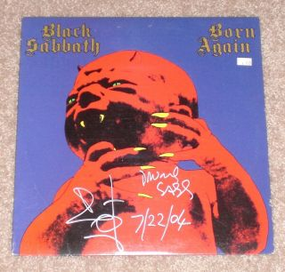 Bill Ward Signed Black Sabbath Born Again Full Album LP