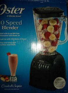 Oster 6706 6 Cup Plastic Jar 10 Speed Blender Black