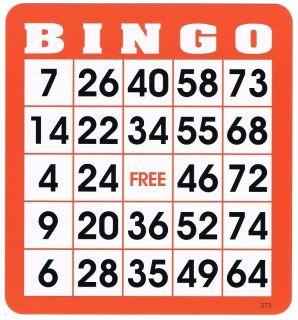 50 re useable Bingo Hard Cards Item 65 0081