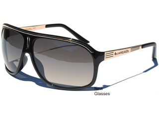 Aviator Retro Oversized Sunglasses Biohazard Sunnnies Black and Gold