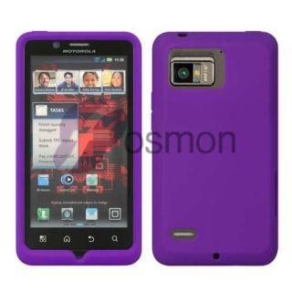 For Motorola Droid Bionic XT875 Soft Gel Silicone Skin Case Purple