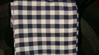 gingham homespun navy blue black white check window valance curtain