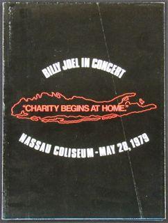 billy joel nassau coliseum 5 28 1979 edition of unfolds to 24 x 36