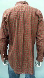 Bill Blass Mens Wear L Cotton Long Sleeve Button Front Collared Shirt