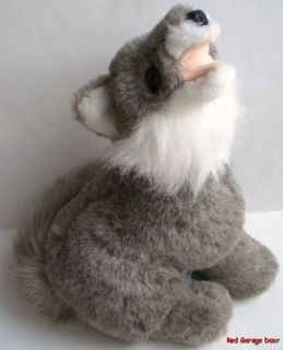Collection WOLF Plush Sitting Stuffed Animal Soft Toy Vintage