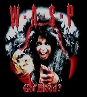 Wasp Blackie Lawless got Blood Official Shirt Med New