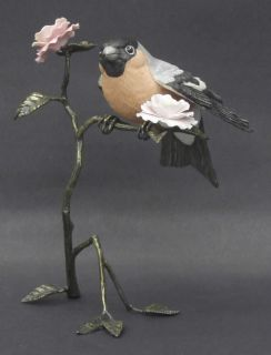 manufacturer goebel pattern bronze bird figurines piece bullfinch size