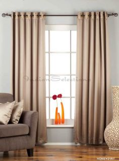 Brownish Gray Ring Grommet Top 90 Blackout Curtain Drape Panel Cust