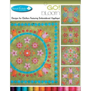 Accuquilt GO! Embroidery Software   GO Bloom by Sarah Vedeler