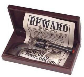 Billy The Kid Old West Collectors Pistol Set Replica Fast Draw Gun