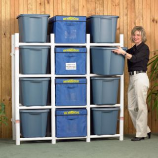 THE Bin Warehouse 12 Tote Storage System BOX Plastic Bins CONTAINER