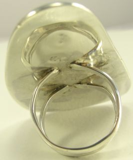 Sterling Silver Ring Freeform Cut Bisbee Turquoise Handmade