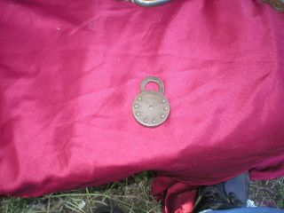 Antique Brass No Key American Keyless Lock Co Padlock
